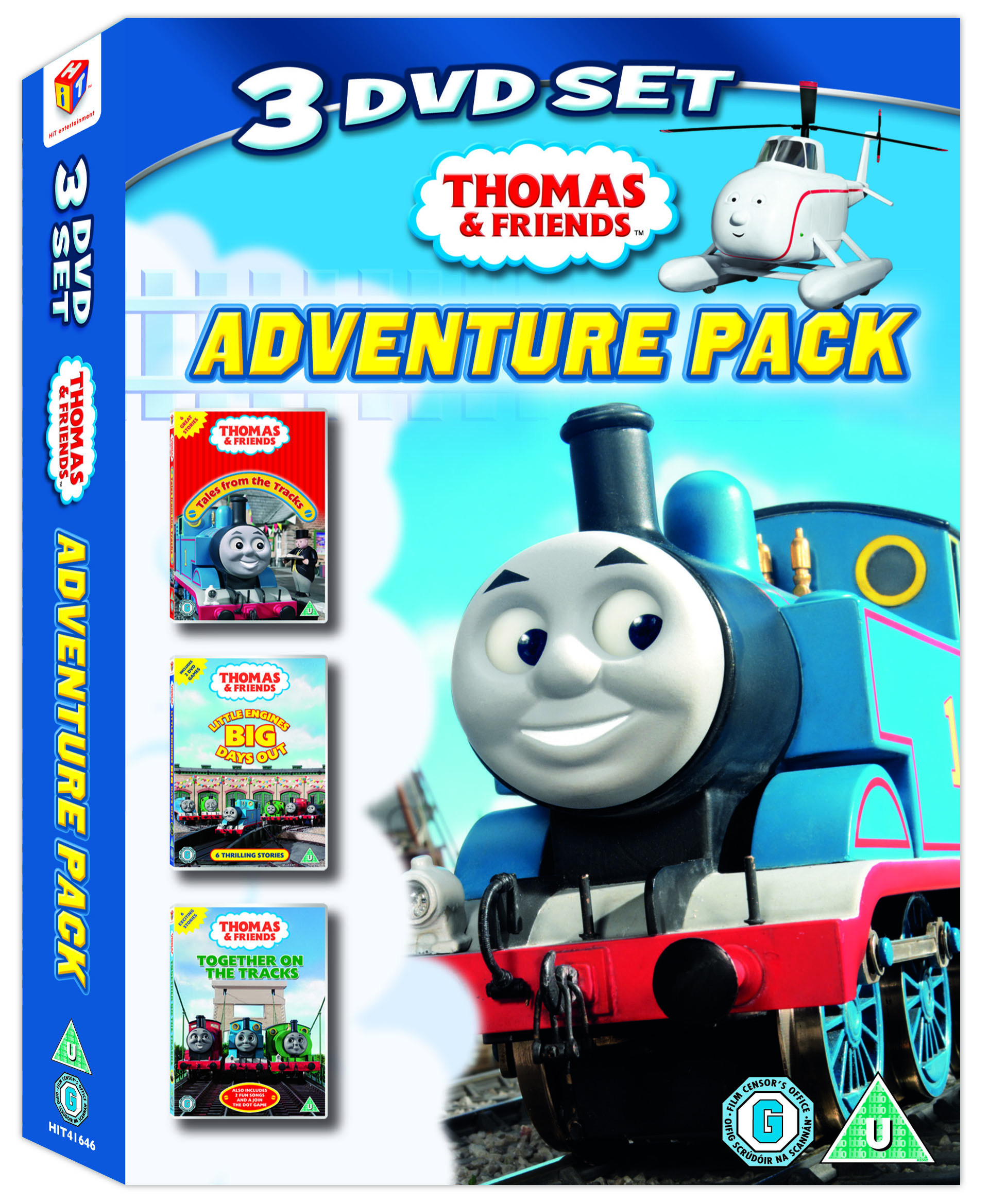 thomas and friends adventure pack 3 discs dvd c u. Black Bedroom Furniture Sets. Home Design Ideas